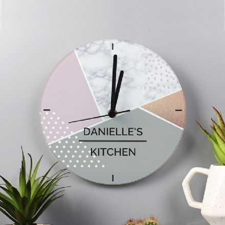 Geometric Glass Clock